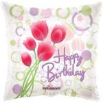 "TULIPS BIRTHDAY BALLOON  18""  19194-18"